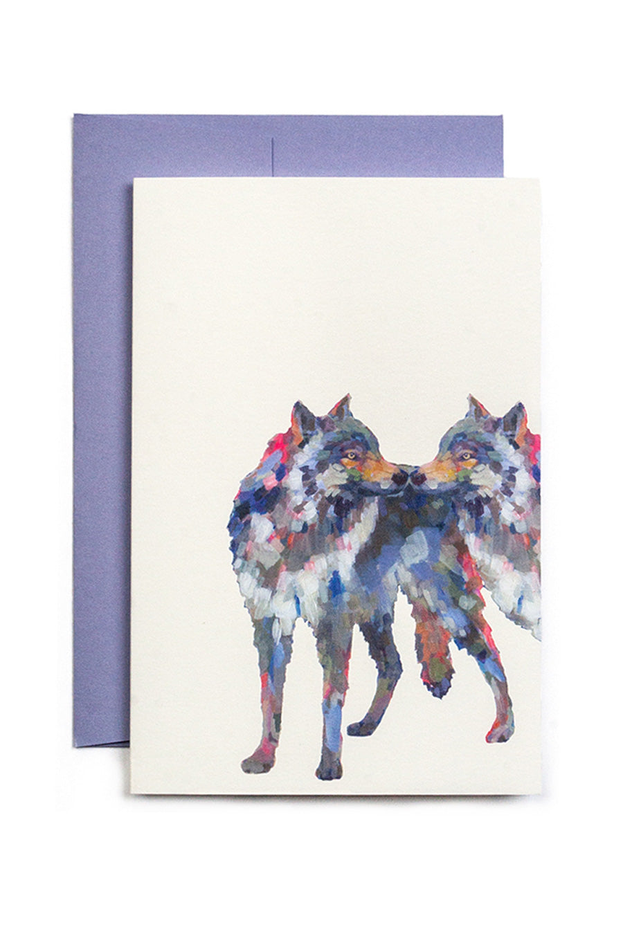 Animal lovebirds greeting cards
