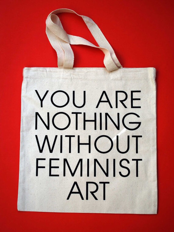 You are Nothing Without Feminist Art Cream Tote