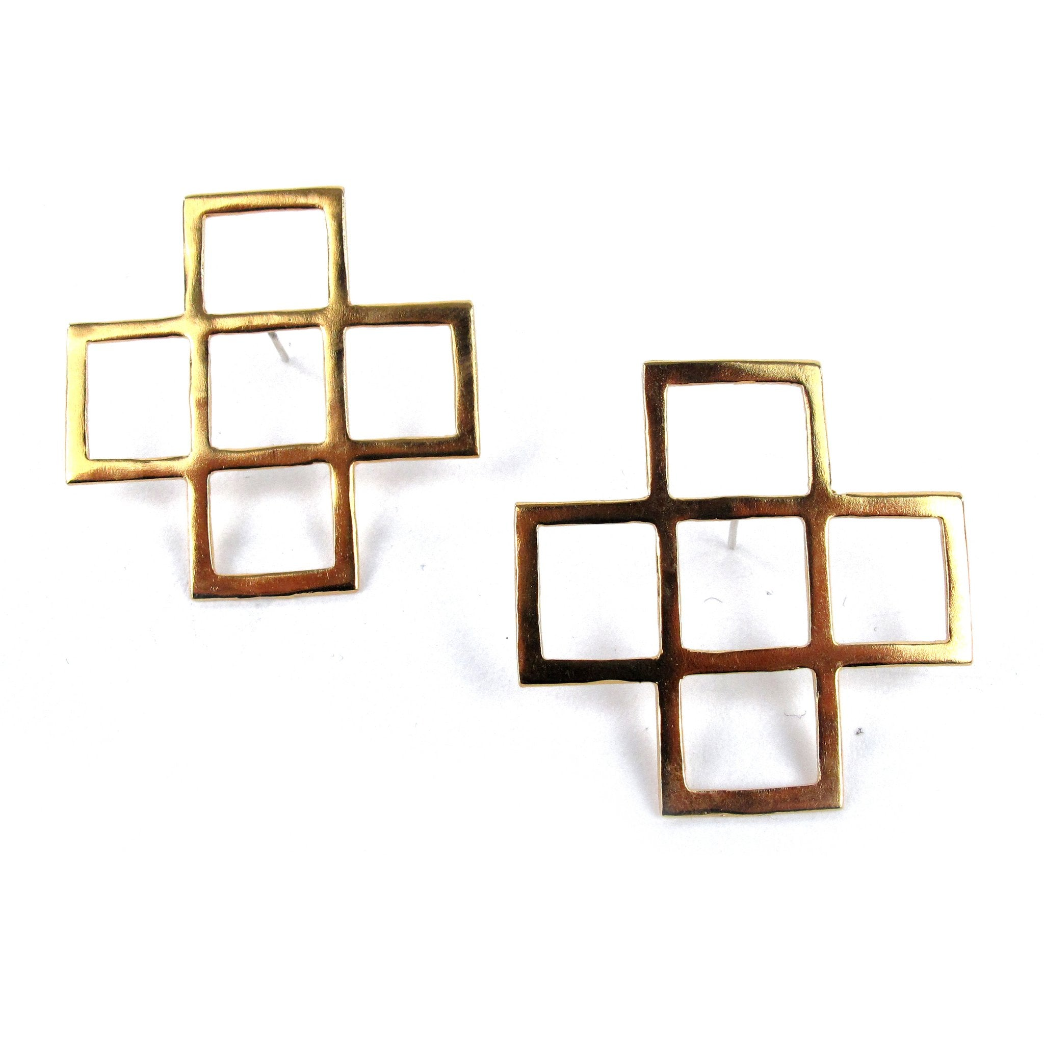 Cross Cut earrings