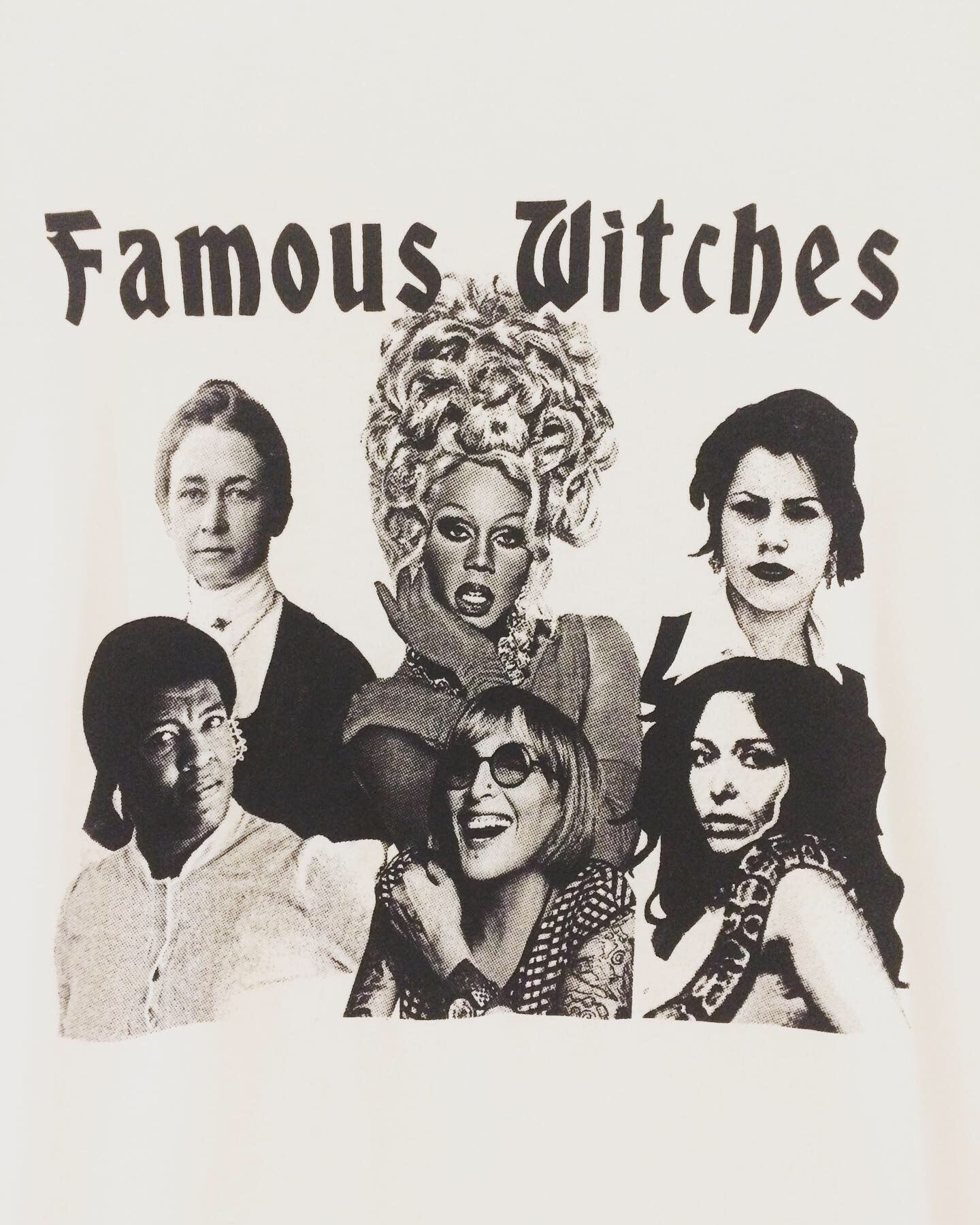 Famous Witches Tee Black