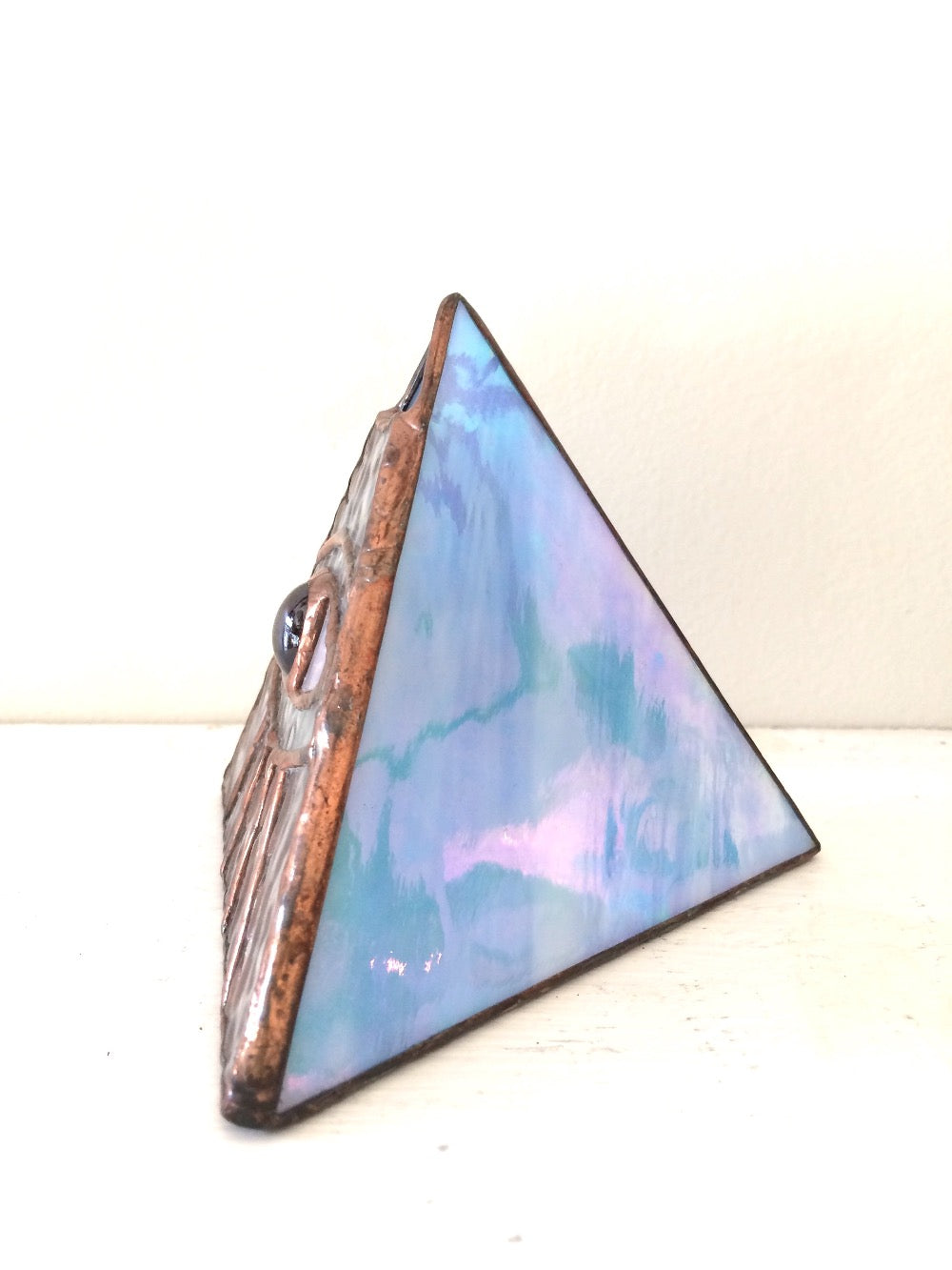 Stained Glass Eye Pyramid