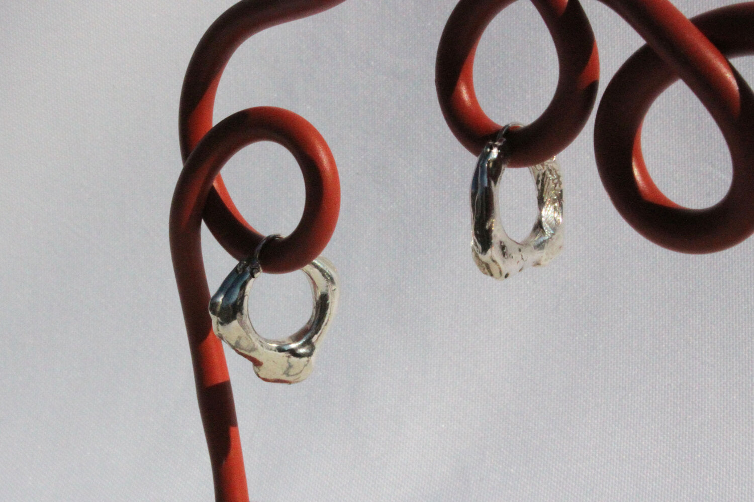 Blobby Silver Hoops