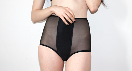 High Waist Contrast Panties