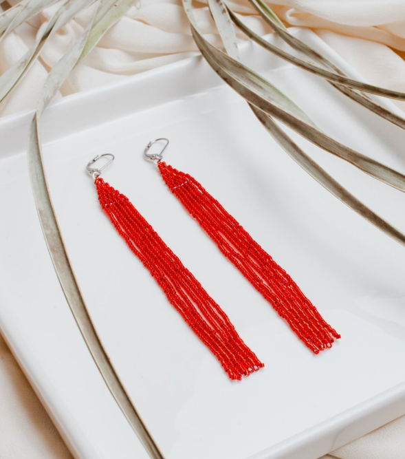 Red Spark Earrings