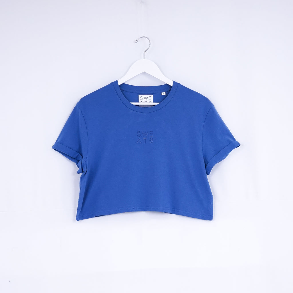 WOMENS - BRIGHT BLUE - CLASSIC - CROPPED T-SHIRT