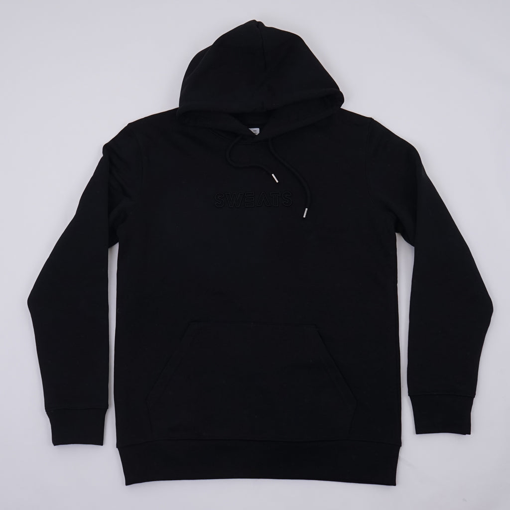 WOMENS - BLACK - OUTLINE 3D - HOODIE