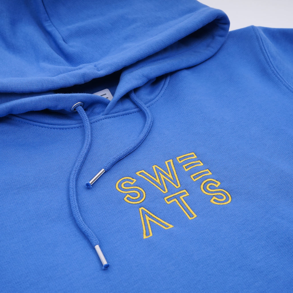 WOMENS - BRIGHT BLUE - CLASSIC OUTLINE - HOODIE