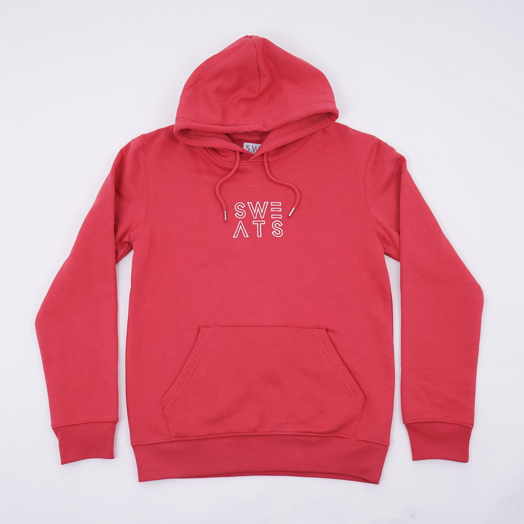 MENS - CARMINE RED - CLASSIC OUTLINE - HOODIE