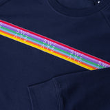 MENS - FRENCH NAVY - RAINBOW RIBBON - SWEATSHIRT