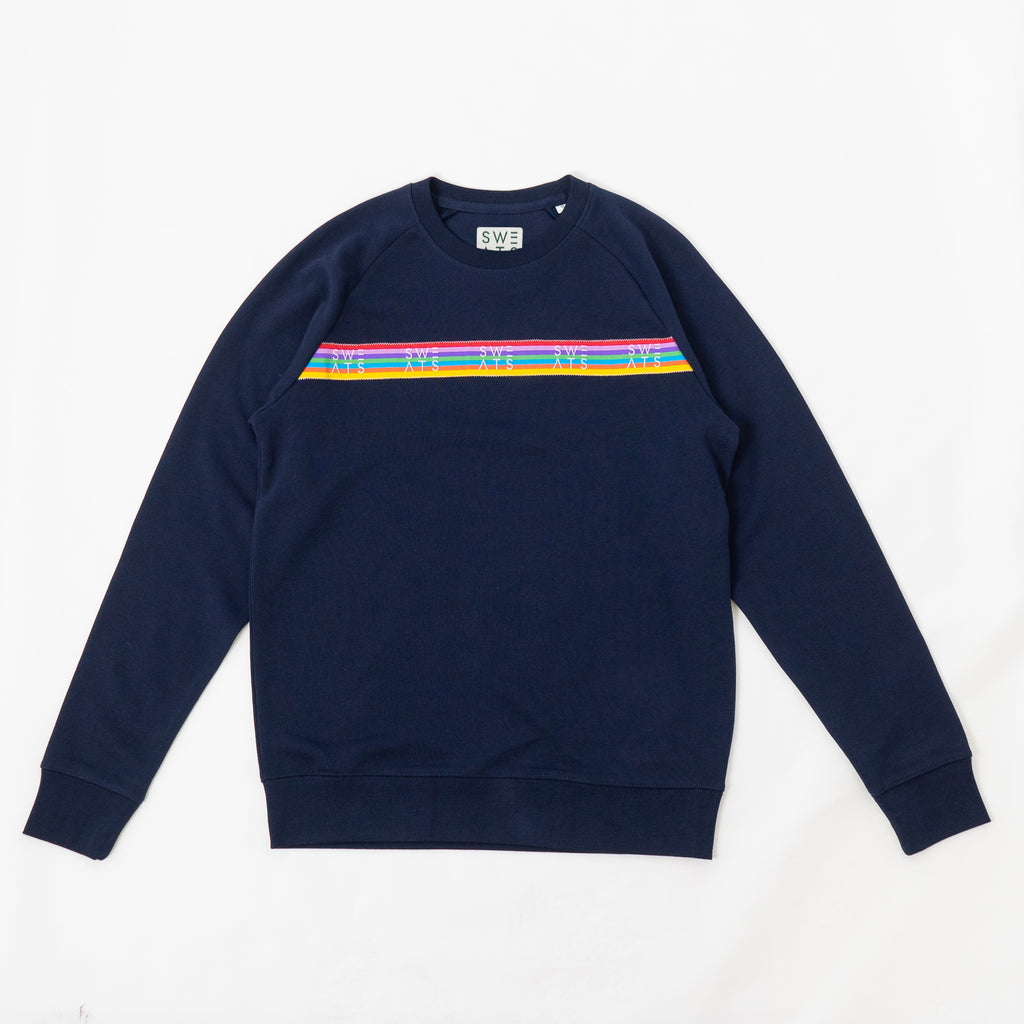 WOMENS - FRENCH NAVY - RAINBOW RIBBON - SWEATSHIRT
