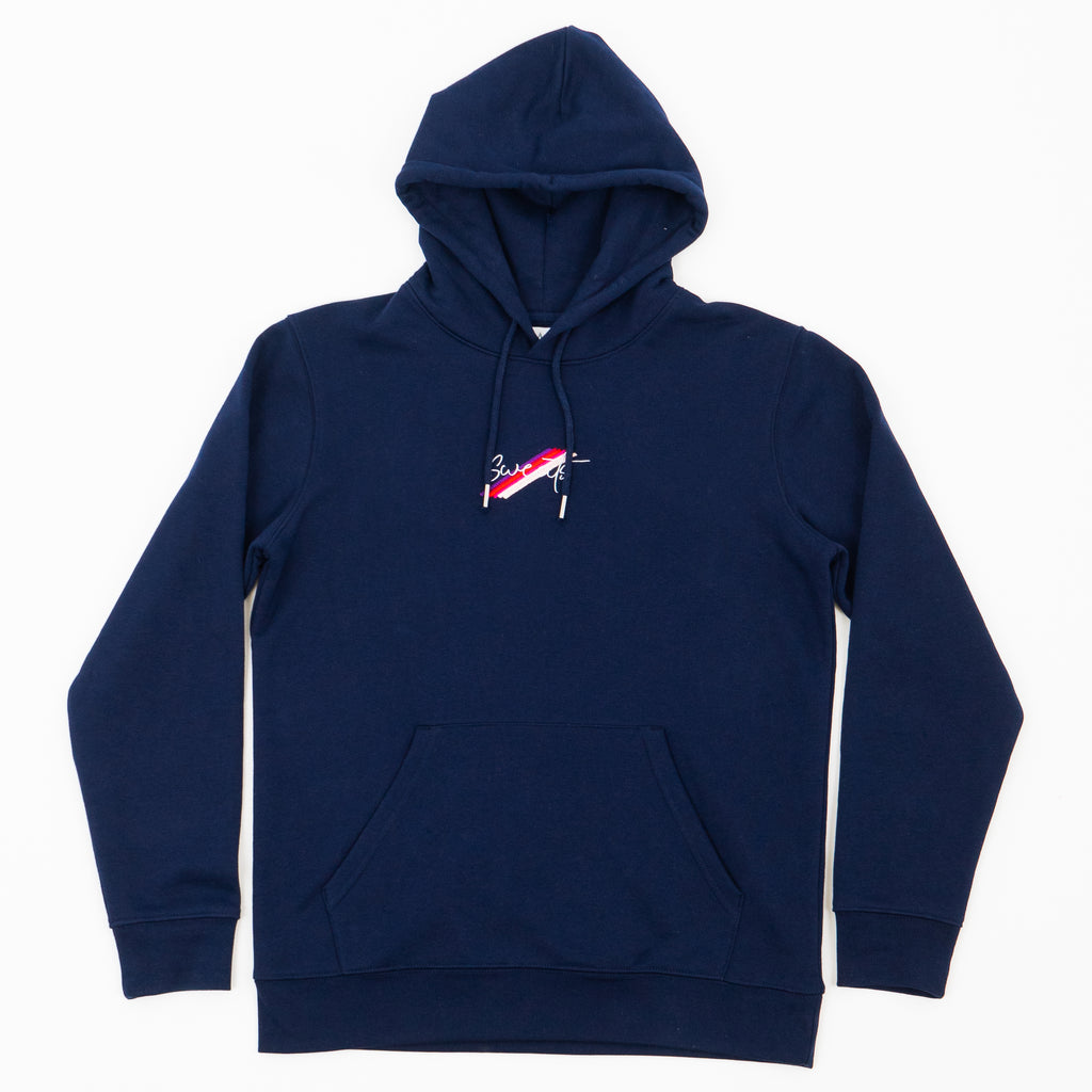 MENS - FRENCH NAVY - LIGHT SCRIPT - HOODIE
