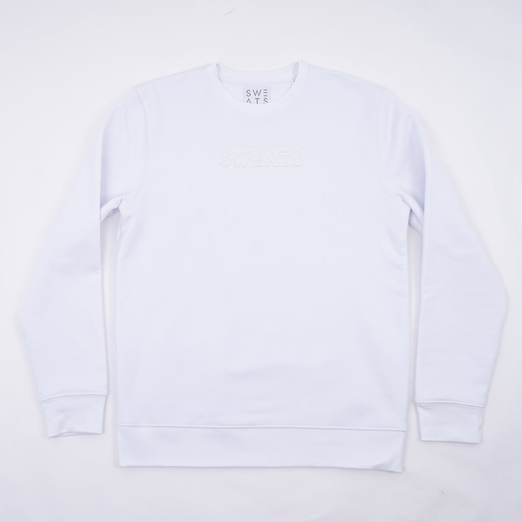 WOMENS - WHITE - OUTLINE 3D - SWEATSHIRT