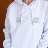 WOMENS - WHITE - LIGHT STRIPES - HOODIE
