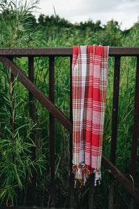 koton kulture toronto turkish towel Turkey Tradition peshtemal white and yellow checkered design