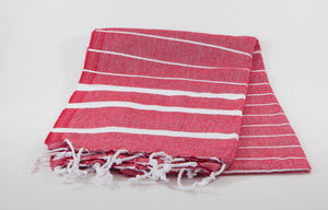koton kulture toronto turkish towel infinity water red white stripped poncho with tassels for babies kids