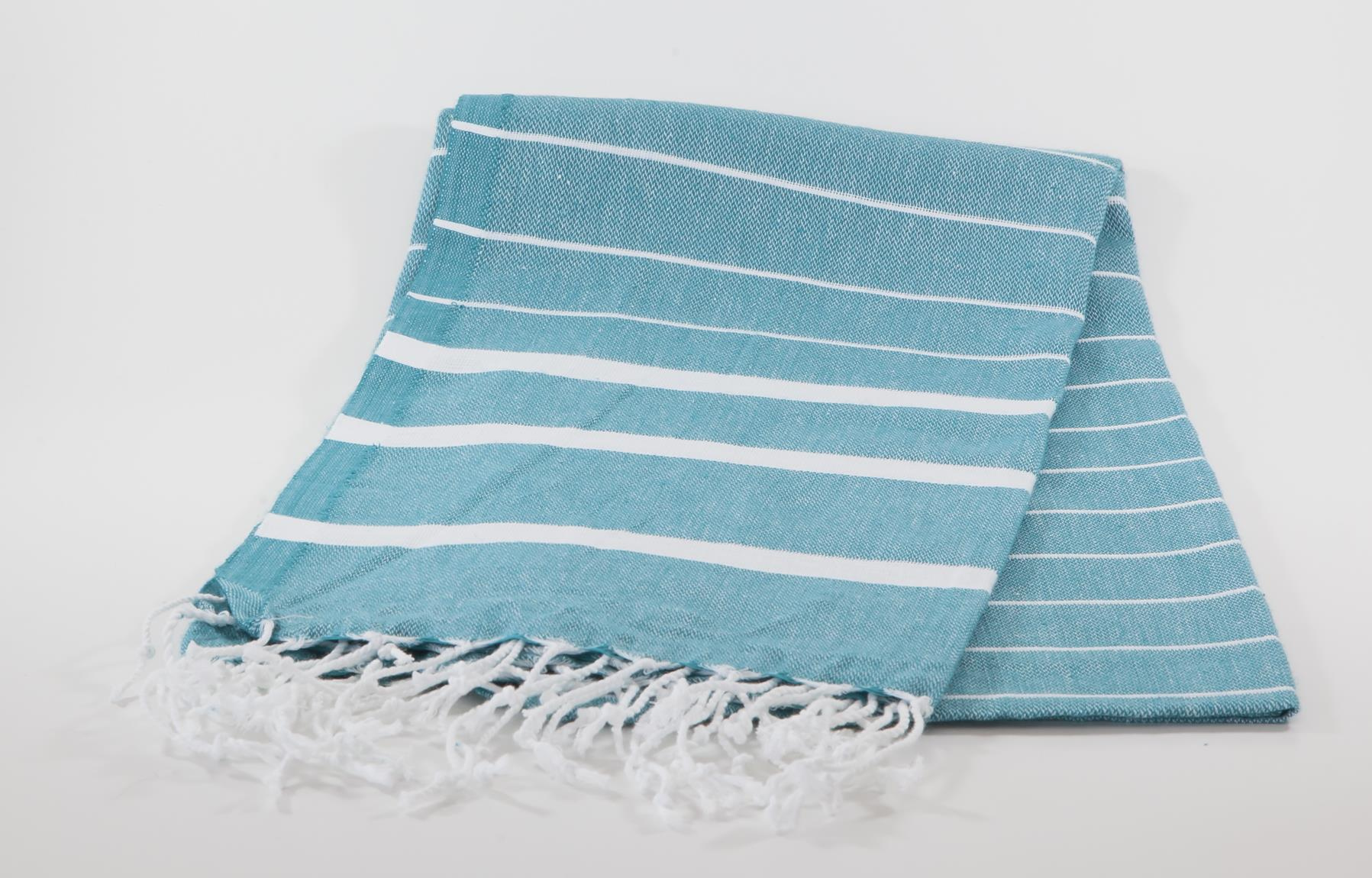 koton kulture toronto turkish towel infinity water aqua green or turquoise white stripped poncho with tassels for babies kids