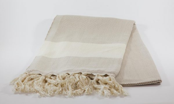koton kulture toronto turkish towel ocean wave beige white stripped poncho with tassels for babies kids