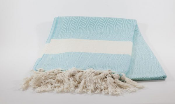 koton kulture toronto turkish towel ocean wave turquoise white stripped poncho with tassels for babies kids