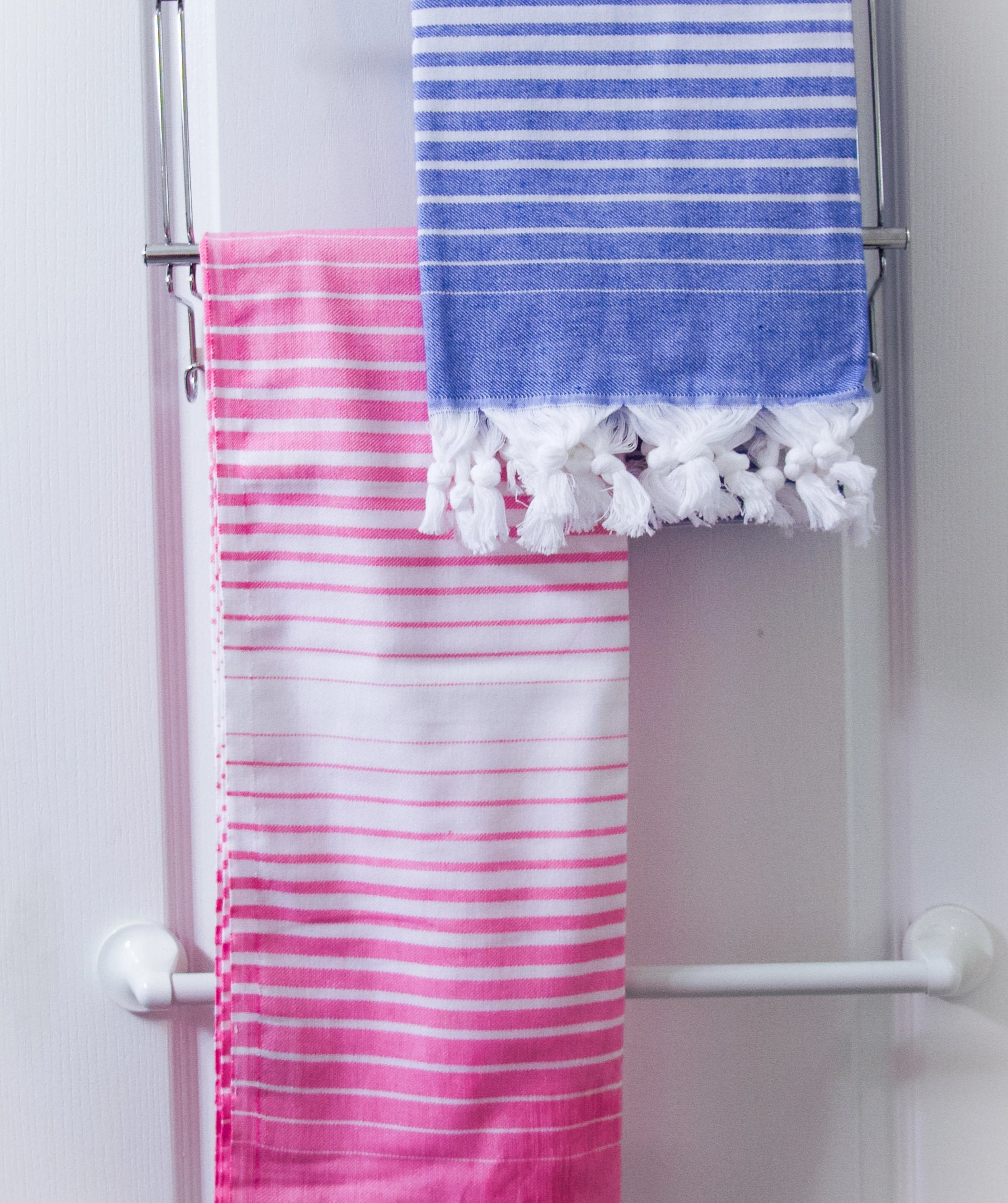 koton kulture toronto turkish towel rainbow fade peshtemal with gradient light colour and tassels comes in pink red orange turquoise lavender marine blue