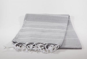 koton kulture toronto turkish sultans palace water grey white stripped poncho with tassels for babies kids