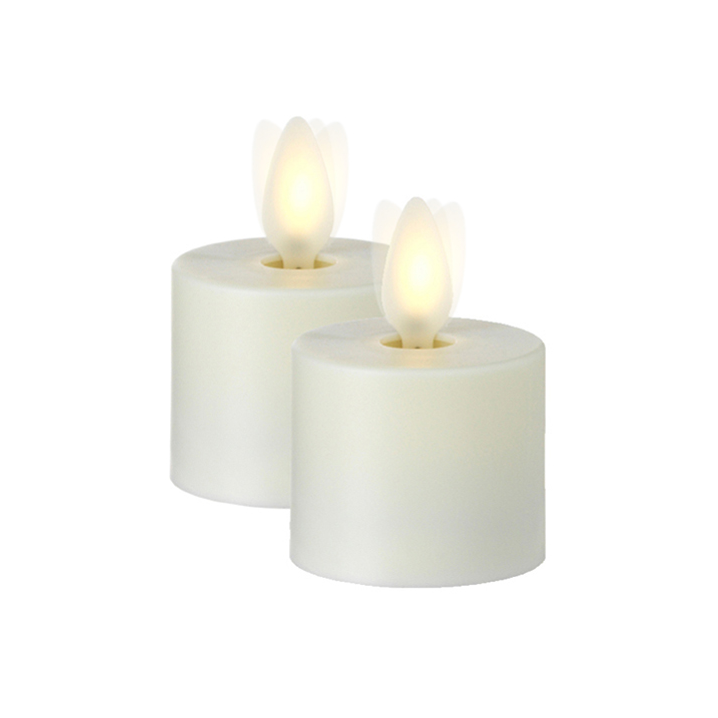 "Moving Flame 2"" Tea Light Candle Set"