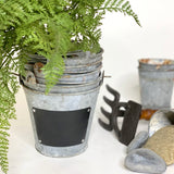 Metal Planter with Chalkboard