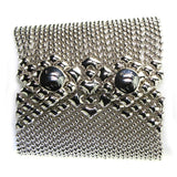 Liquid Metal Wide Diamond Bracelet