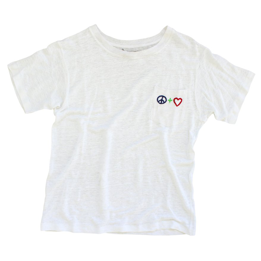 Peace And Love Pocket Tee