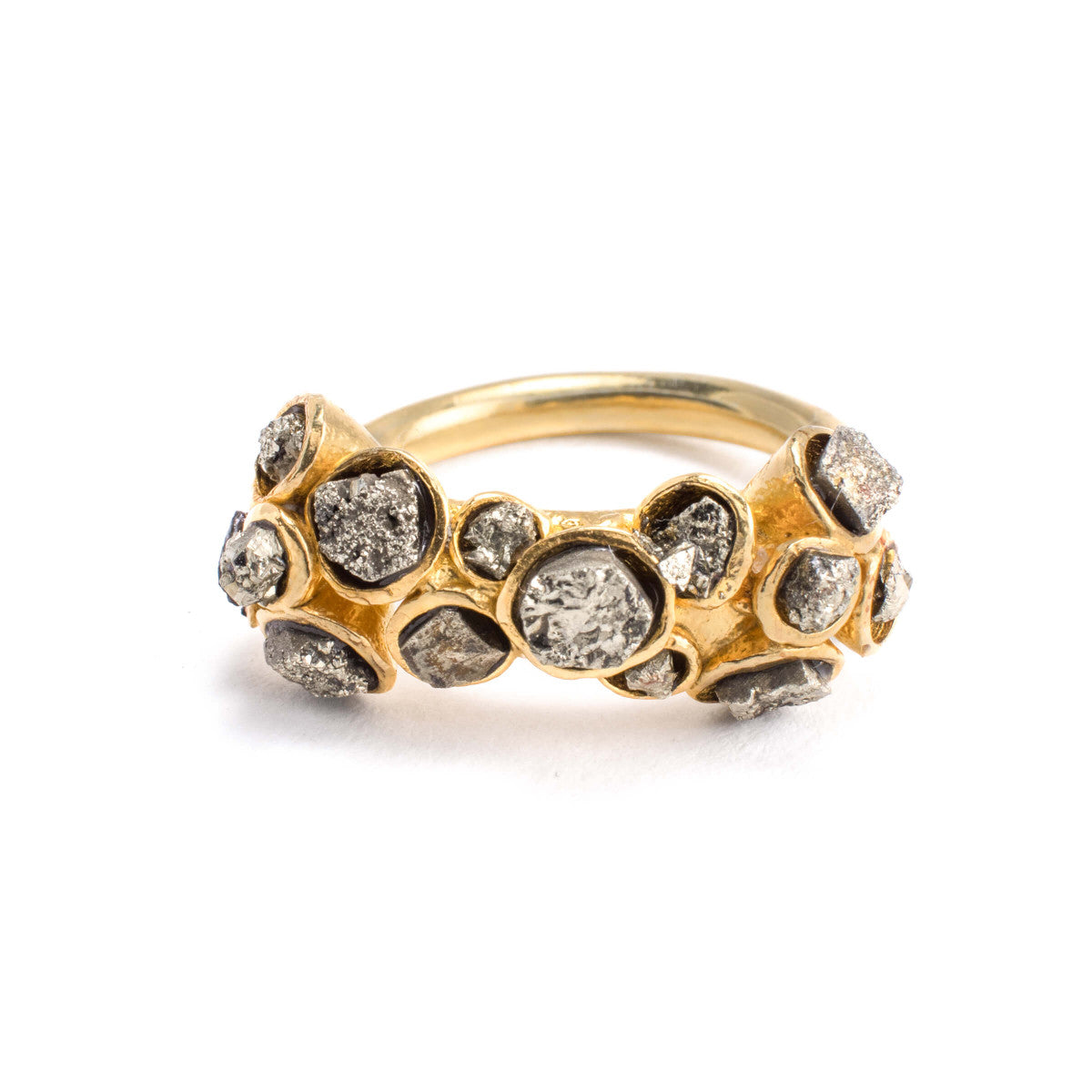 Courtney Pyrite Ring