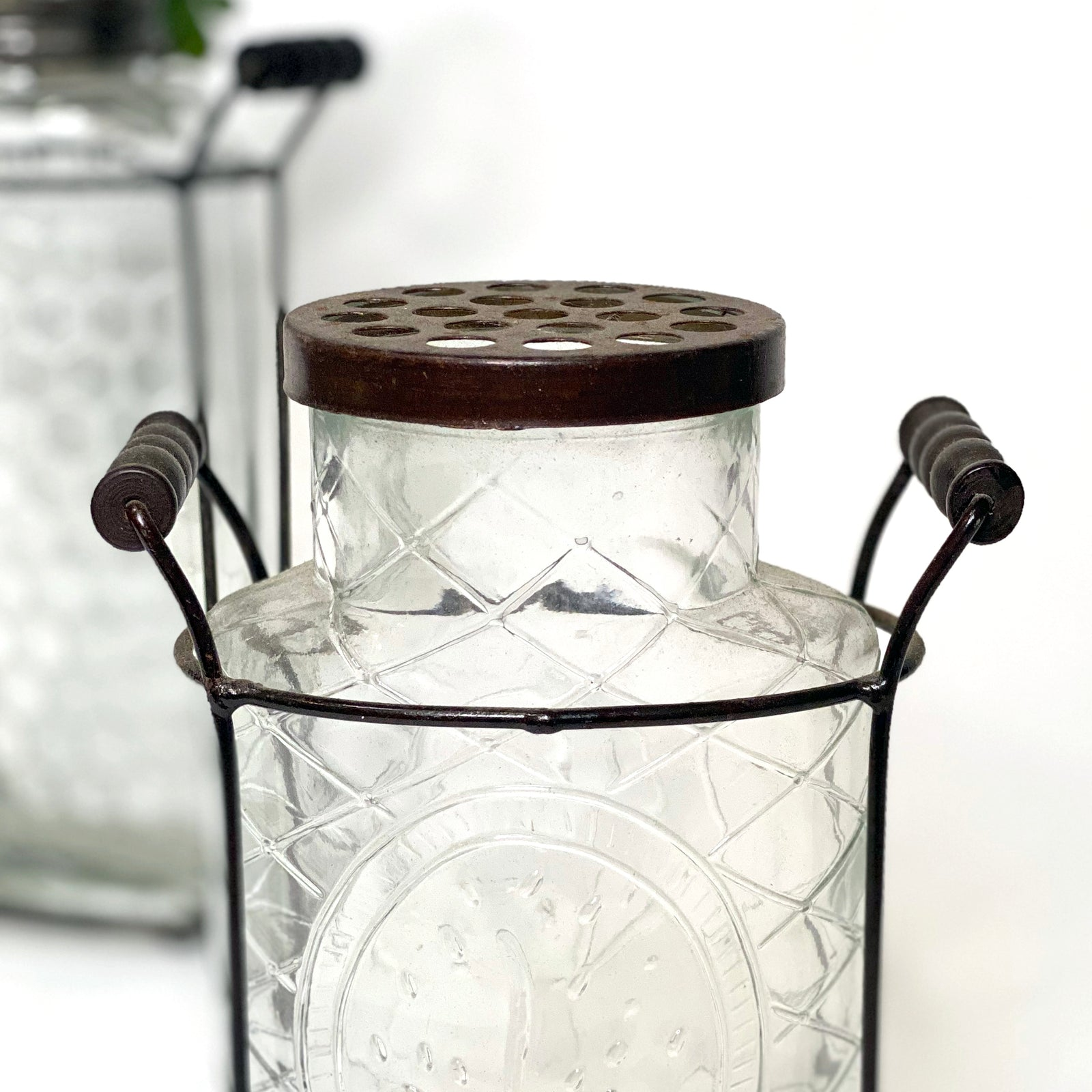 Glass Vase with Flower Lid
