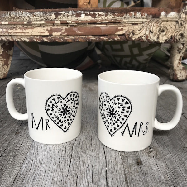 Bon Bon Mr Mrs Mugs