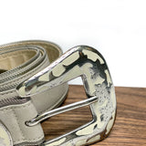 Ivory Leather Belt
