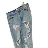Boyfriend Jeans - distressed