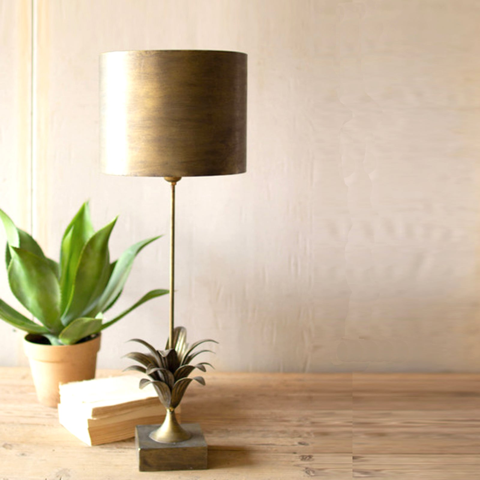 Gold Metal Table Lamp - Metal Shade