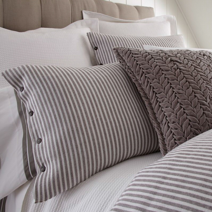 Brayden Grey Stripes Standard Sham