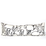 Hunt Slonem Bunnies Black Pillow - large