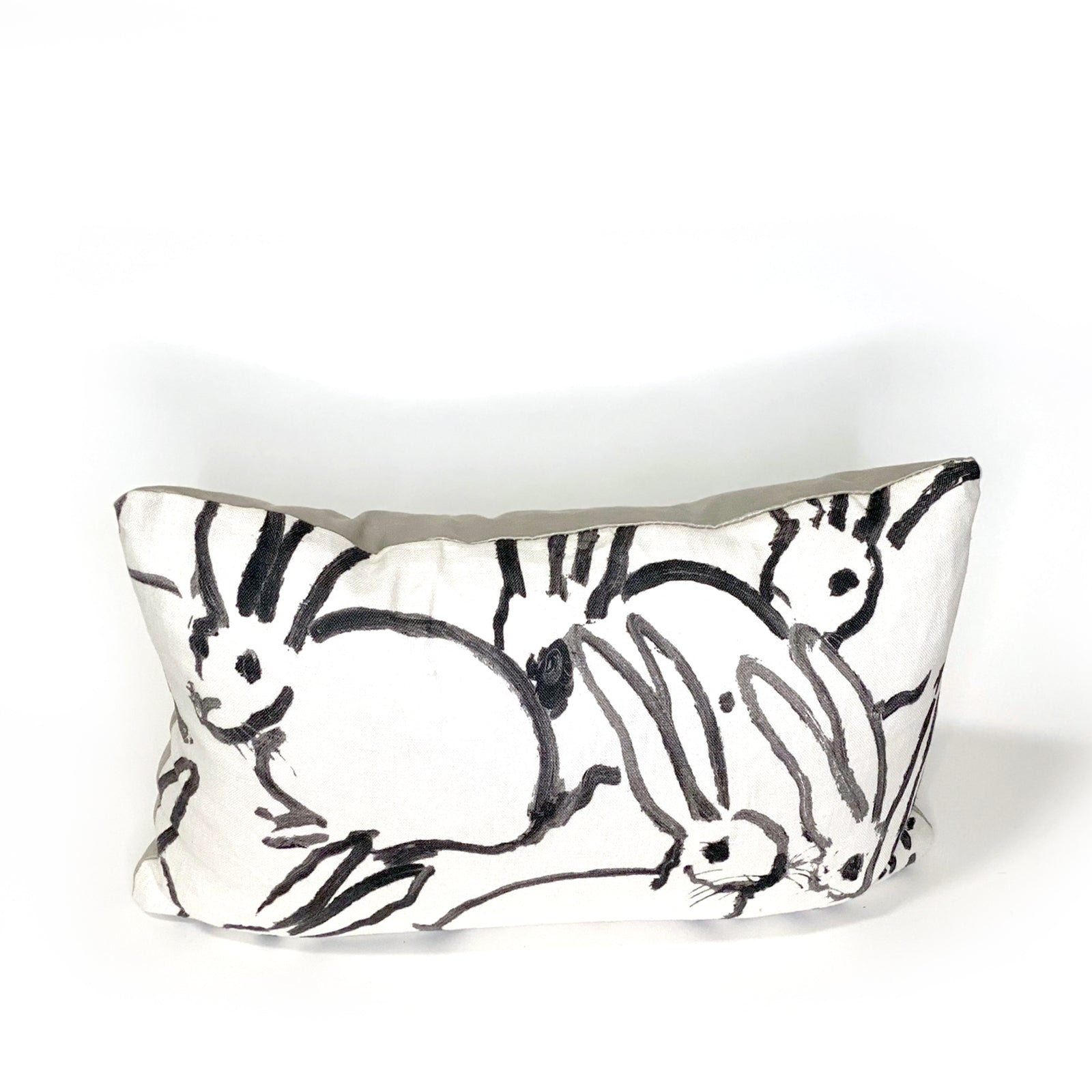 Hunt Slonem Bunnies Pillow Black