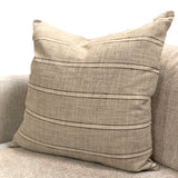 Grey Ivory Stripe Pillow