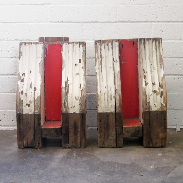 Pair of Vintage Wooden Corbels
