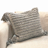 Grey Knotted Pillow