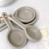 Terra Cotta Measuring Cups, Gray