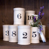 Stoneware Container with Number