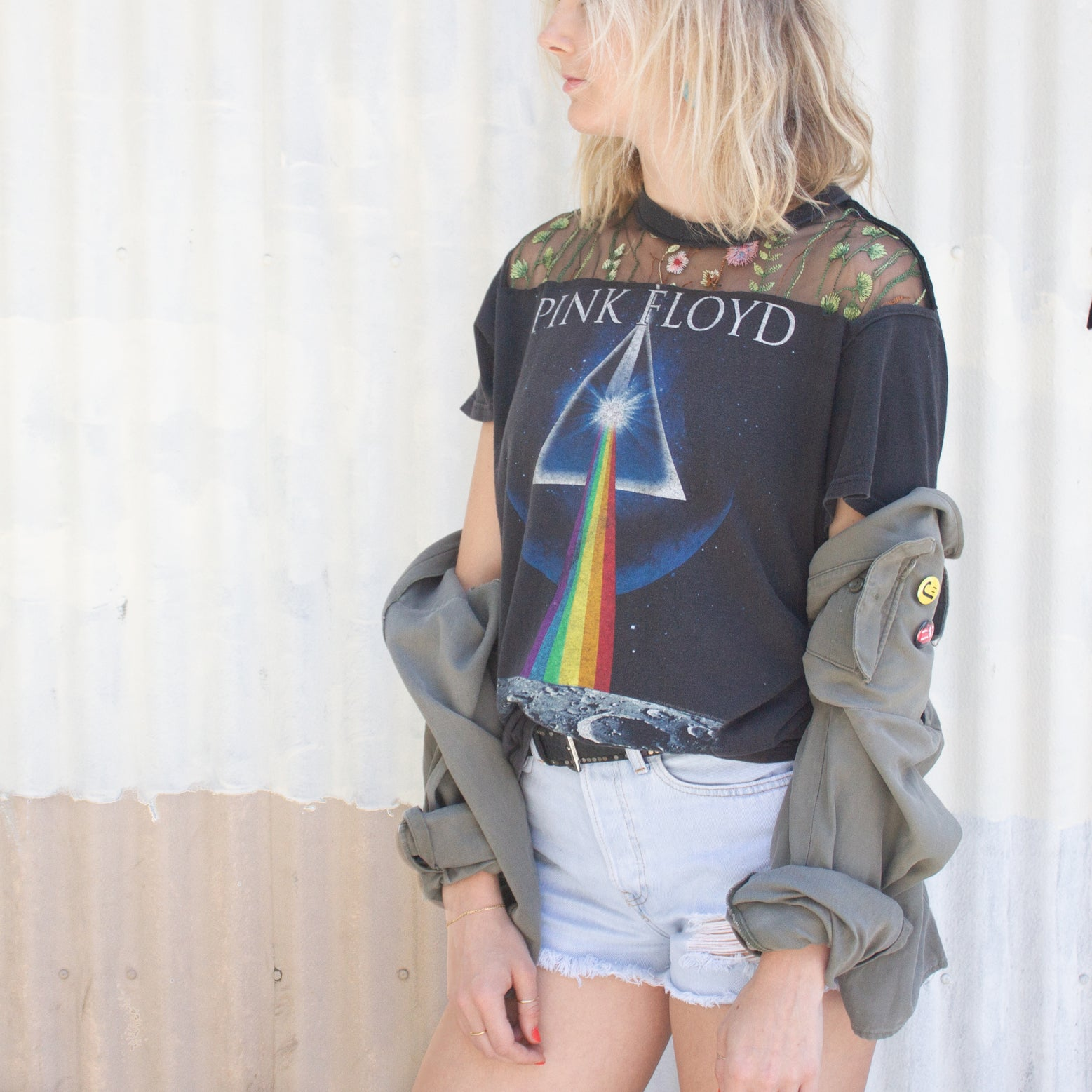 Pink Floyd Tee with Lace