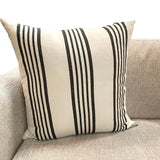 Runway Stripe Light Charcoal Pillow