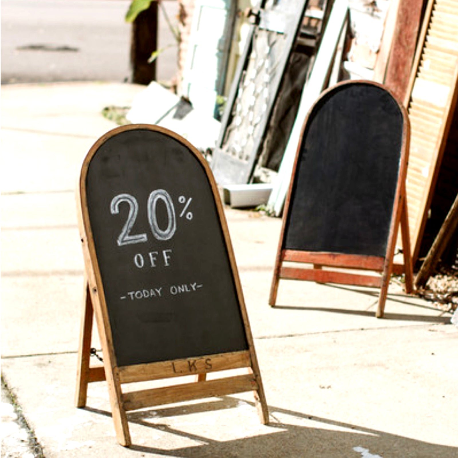 Repurposed Wooden Chair Chalkboard Sign