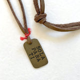 Sola Para Ti Dog Tag Necklace