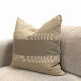 Taupe and Tan Stripe Pillow