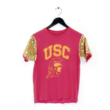USC Sequin Sleeve Tee