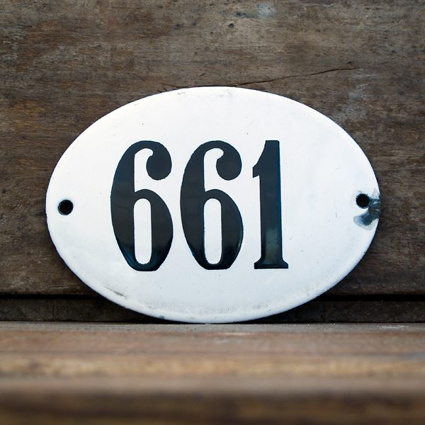 Vintage Address Plaque