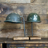 WWII Helmet on Stand